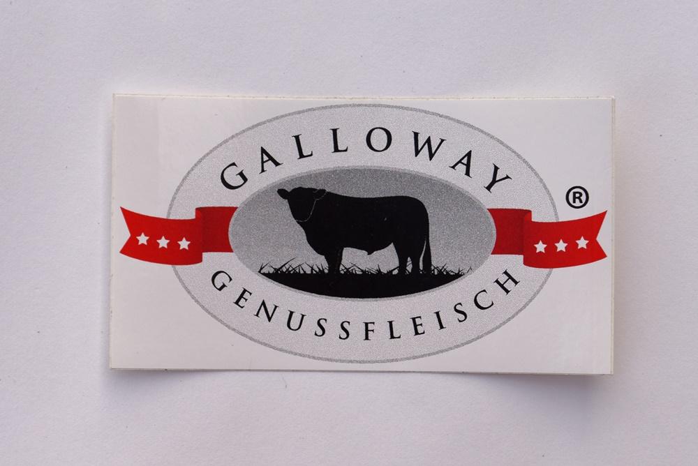 Aufkleber Galloway Genussfleisch 2 Größen
