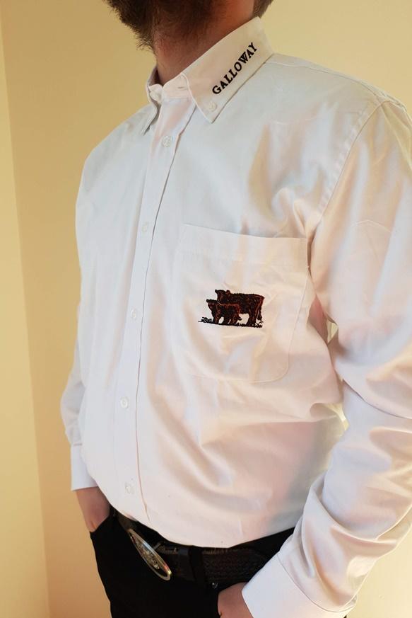 Hemden Langarm mit Aufdruck Galloway