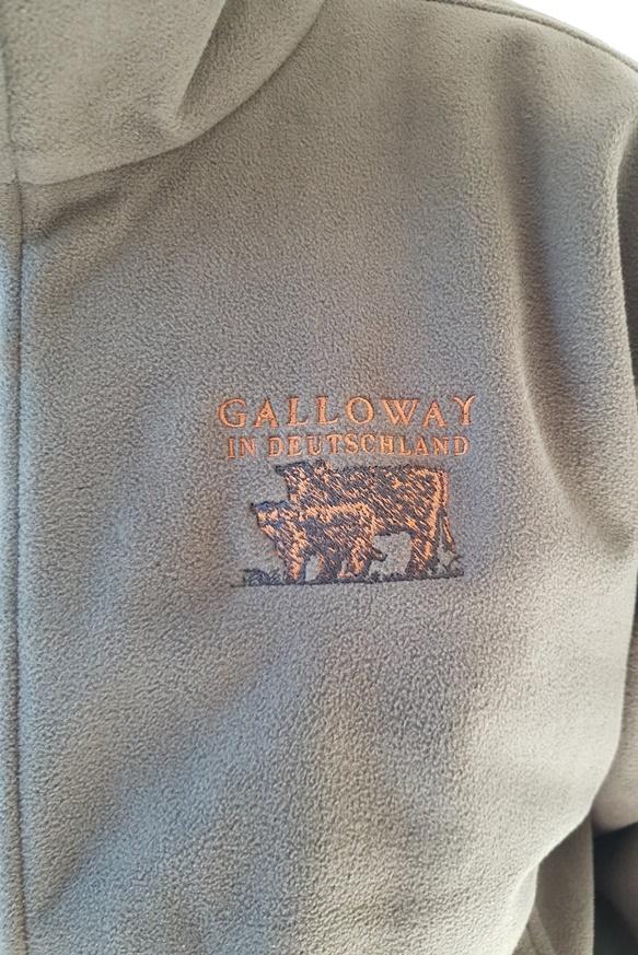 Fleece Jacke mit Aufdruck Galloway in Deutschland