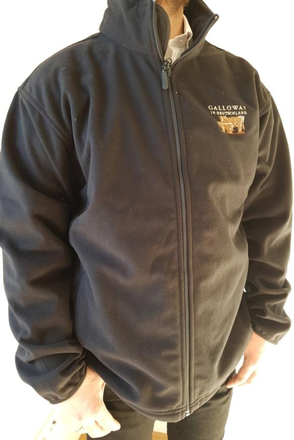 Fleece Jacke schwarz mit Aufdruck Galloway in Deutschland