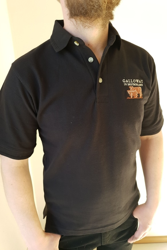 Polo Shirt schwarz mit Aufdruck Galloway in Deutschland