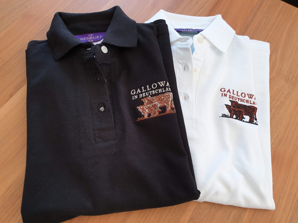 Damen Polo Shirt mit Aufdruck Galloway in Deutschland
